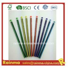 Triangle Neon Color Barrel Hb Wooden Pencil 5 Color
