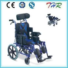 Thr-958L Silla de ruedas reclinable con respaldo alto para niños con parálisis cerebral