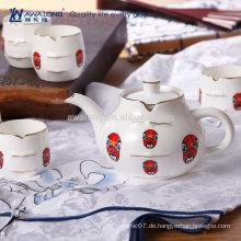 7pcs Einzigartiger Entwurfsgesichtsverfassungs-Muster-japanischer Porzellan-Tee-Satz
