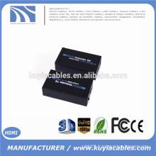 Convertisseur extenseur HDMI 1.4V 1080P Jusqu'à 60M, amplificateur audio vidéo sur Cat6 / Cat7