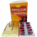 Ampicillin cápsulas 500 mg