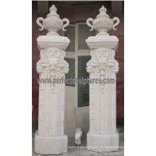 Puerta de entrada de mármol de granito de piedra arenisca para puerta de entrada (DR046)