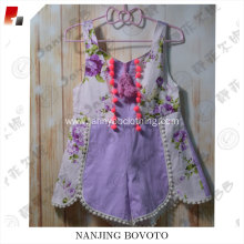 JannyBB new design for purple cotton romper