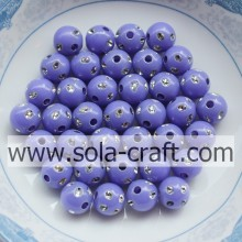 Low Price Purple Color Imitation Round Disco Dot Beads For Jewelry 5MM