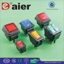 Daier 4-pins round rocker switch