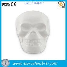 Unique Skull Mod Unpainted Ceramic Bisque