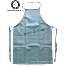 New Style Sky Blue Checked Polyester Painter Kitchen Bib Aprons