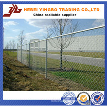 2.4meter Height Diamond Metal Fence / Chain Link Fence in Roll From Factory