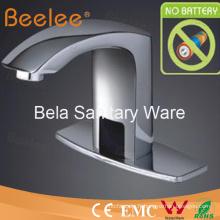 Robinet automatique en laiton chromé de bassin, robinet de capteur Beelee (QH0102P)