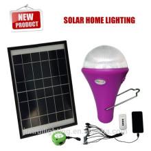 Système à énergie solaire portable avec 3 LED pour l'Afrique