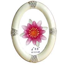 Овальный 100% ручной работы алмаз монтируется 4 «X 6» металлический каркас