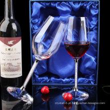 Alta Qualidade Personalizado Promoção Presente Diamante Cristal Vermelho Copo de Vinho