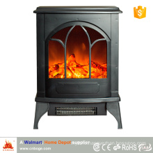 Wooden Free Standing Electric Fireplace