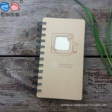 Kraft Paper Die-Cut Cover Thread-Bound Spiral Notebook
