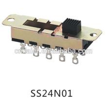 Interruptor deslizante Daier Interruptor deslizante de posición 2p4t / 10 / Interruptor deslizante 2p4t