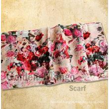 Ladies fashion 50%wool 50%silk printing pashmina shawl