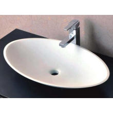China Manufacturer Counter Top White Bathroom Stone Sink (BS-8326)