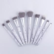 Ensemble de pinceaux de maquillage en marbre synthétique avec boîte d'emballage