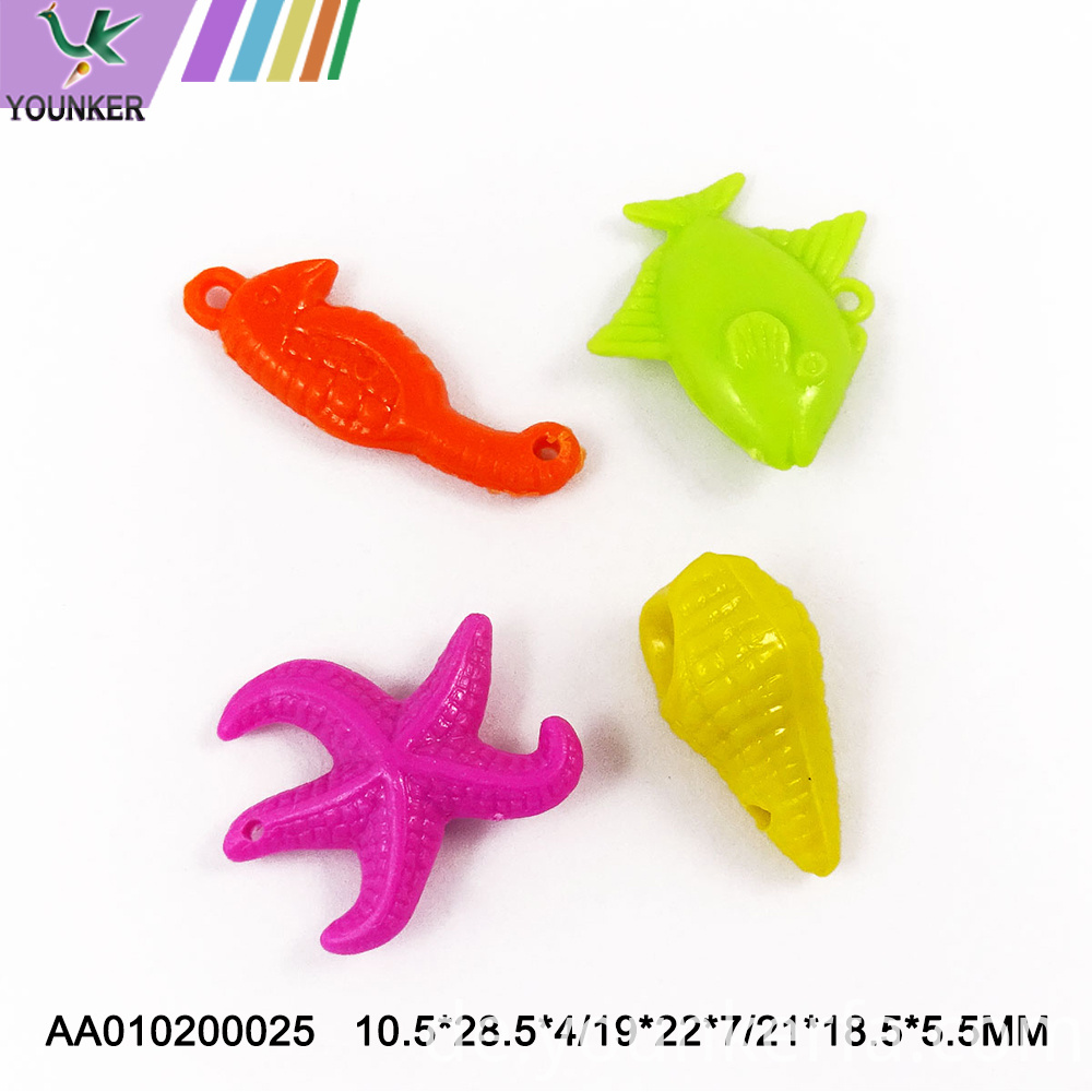 Cute Various Shape Plastic Pendant For Diy
