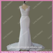 RP0088 Cap sleeve jewel neckline lace appliqued detachable crystals belt evning dress 2015 sex dress real sample wedding dress