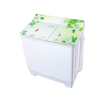Green Glass Cover 10KG Twin Tub Mesin Cuci