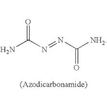 azodicarbonamide  zinc oxide
