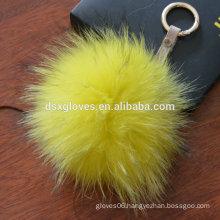 Wholesale Keychain Fur Pom Pom KeyChain Key Ring