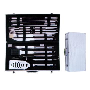 Conjunto de ferramentas para churrasco 18pcs com estojo