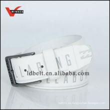 2014 Nueva colección de diseño blanco personalizada de impresión de moda PU cinturón