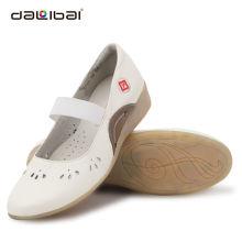 Wholesale unique white leather breathable hospital nurse shoes