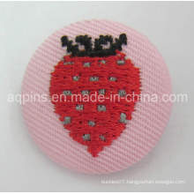 Hot Selling Tin Button Badge with Embroidery Logo (button badge-65)
