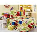 Jeu de couverture de lit imprimé feuilles /Duvet Set des pigments