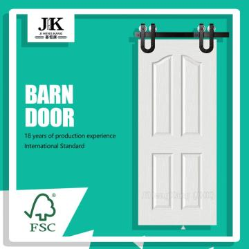 JHK 4 Panel White Interior Barn Door