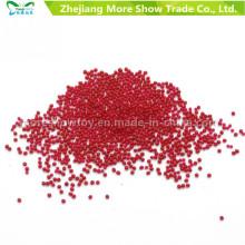 Rojo de cristal de agua de suelo de cuentas de jarrón de relleno decoración de la boda