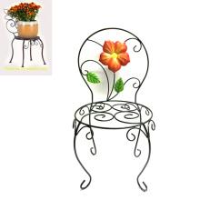 Wholesale Garden Decoration Metal Linellae Chair Flowerpot Stand