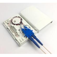 Caja de terminales de fibra óptica de 2 puertos con cubierta de polvo
