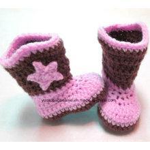 Sapatos por atacado e Hat Crochet Baby Shoes