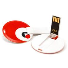 Tarjeta de visita redonda OEM Unidad flash USB