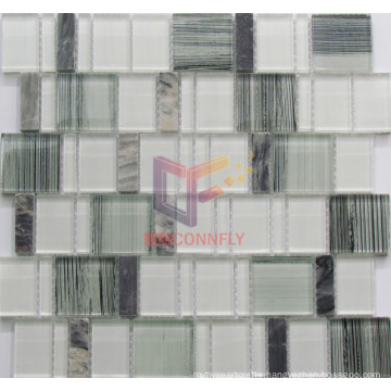 Hand Painting Glass Mix Marble Crystal Mosaic (CS244)
