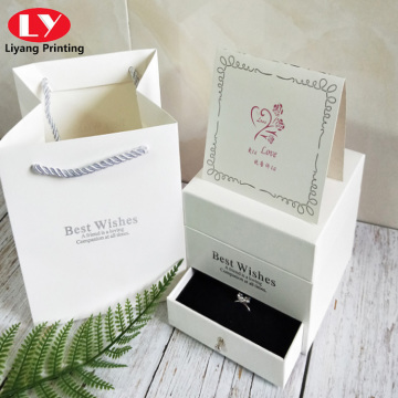 Double flower box necklace or ring for wife