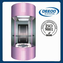 360 grados de diseño circular de vidrio elevador de turismo