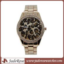 Design personalizado moda diamante liga relógios mulheres