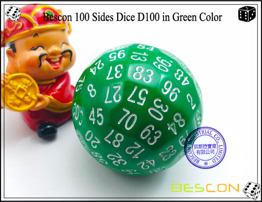 Bescon 100 Sides Dice D100 in Green Color-1