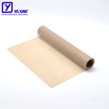 Thickness 0.13mm Brown Color PTFE Fiberglass Cloth Heat Resistant Non Stick