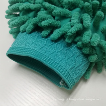 Luvas de chenille de microfibra de luva de lavagem de carro frente e verso