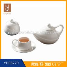 mini ceramic tea pot set with sugar pot/cup and saucer wholesale