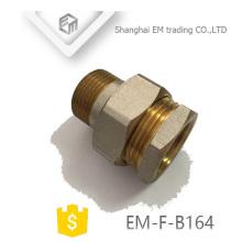 EM-F-B164 Tubo de unión de latón reductor de rosca niquelado