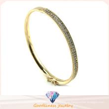 Caliente 2015 hermosa plata de ley 925 joyas de moda joyas círculo linda mujer pulsera brazalete (g41253)
