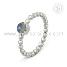 Erstaunlicher Regenbogen-Mondstein-Silber-Ringgroßverkauf 925 Sterlingsilber-Schmucksache-handgemachte on-line-silberne Schmucksachen