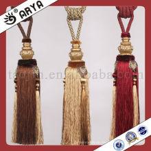 Heißer Verkauf Quaste Tieback für Vorhang Dekor, Hersteller von Quaste, Vorhang Schnur Krawatte Rücken
